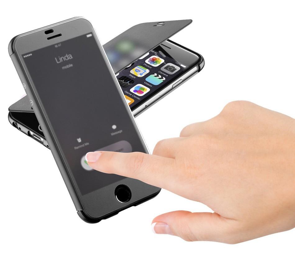 半透明フラップ採用、閉じたままタッチ操作・画面確認できる手帳型ケース「BOOK TOUCH for iPhone 6」