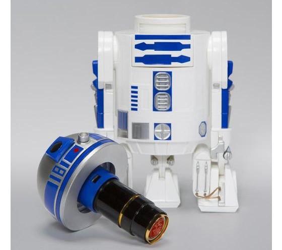 「スター・ウォーズ」のドロイド「R2-D2」型ネーム印スタンド サンスター文具から