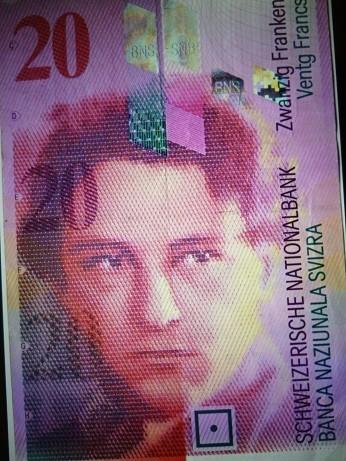 スイス20フラン札に印刷されているオネゲル