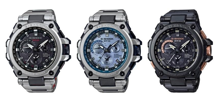 左からMTG-G1000RS-1AJF、MTG-G1000RS-2AJF、MTG-G1000RB-1AJF