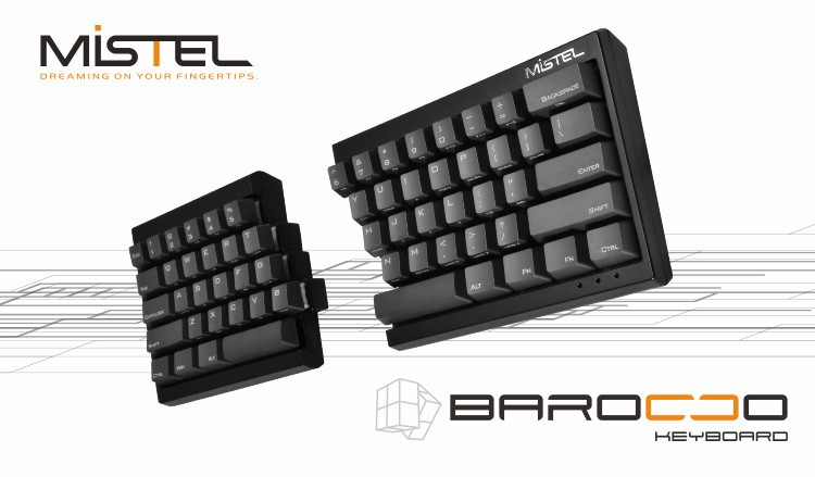 左右に分離するメカニカルキーボード「Mistel Barocco MD600シリーズ」