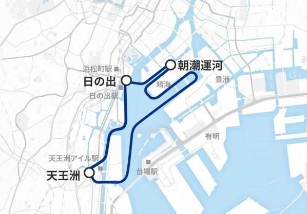 東京を代表するオシャレなベイサイドをぐるりと回るルート