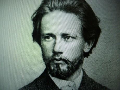 若いころのチャイコフスキーの肖像