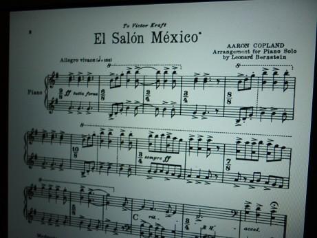 バーンスタインが編曲したピアノソロ版「エル・サロン・メヒコ」の楽譜