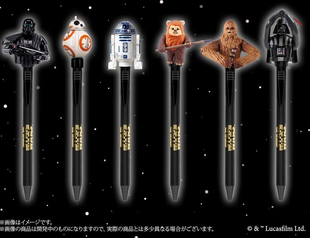 「スター・ウォーズ」キャラクターが大きくアクション ギミック付きボールペン