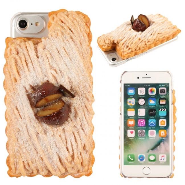 「和栗モンブラン」のiPhone 7ケース クリームの質感などを細かく再現