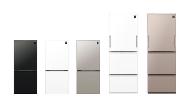 プラズマクラスター冷蔵庫 「高品位ガラスドア」など上質感