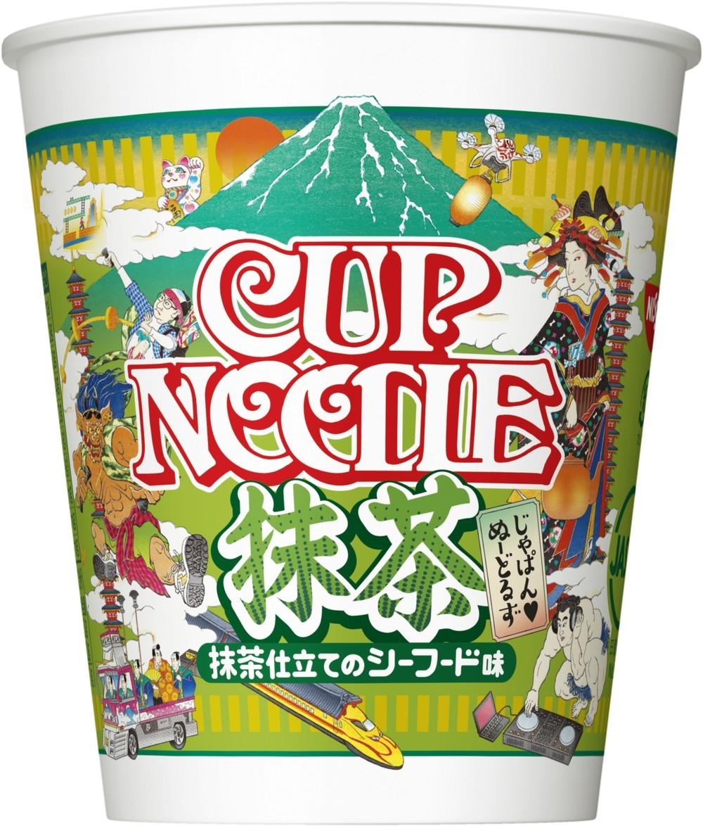 「カップヌードル 抹茶」を発売 史上初の「緑色」めんに衝撃走る