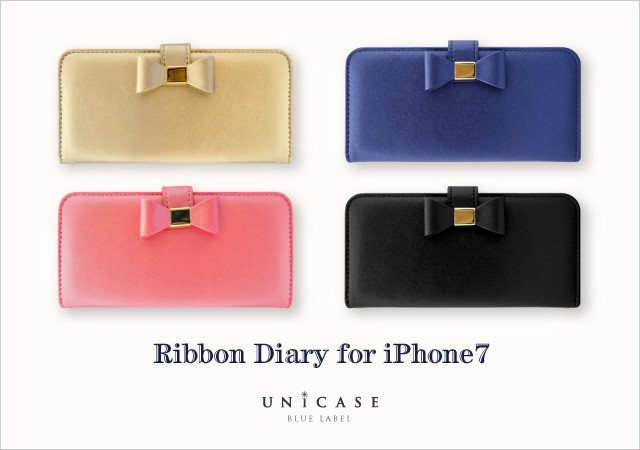 「UNiCASE BLUE LABEL」から「Ribbon Diary」iPhone 7ケース
