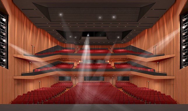 1300席の新ホール