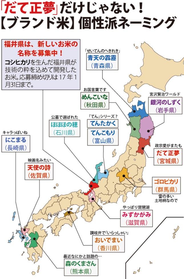 全国各地のブランド米競争は年々激化(編集部作成)