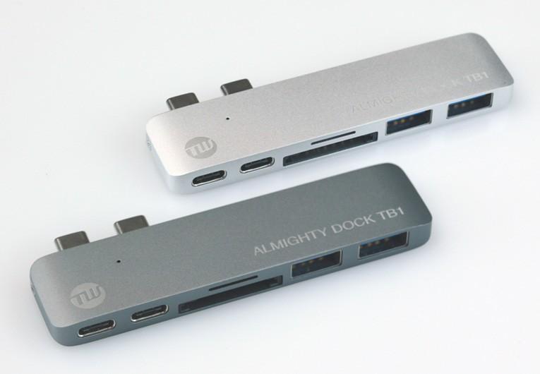 MacBookのUSB-Cポートを拡張できるドック2モデル