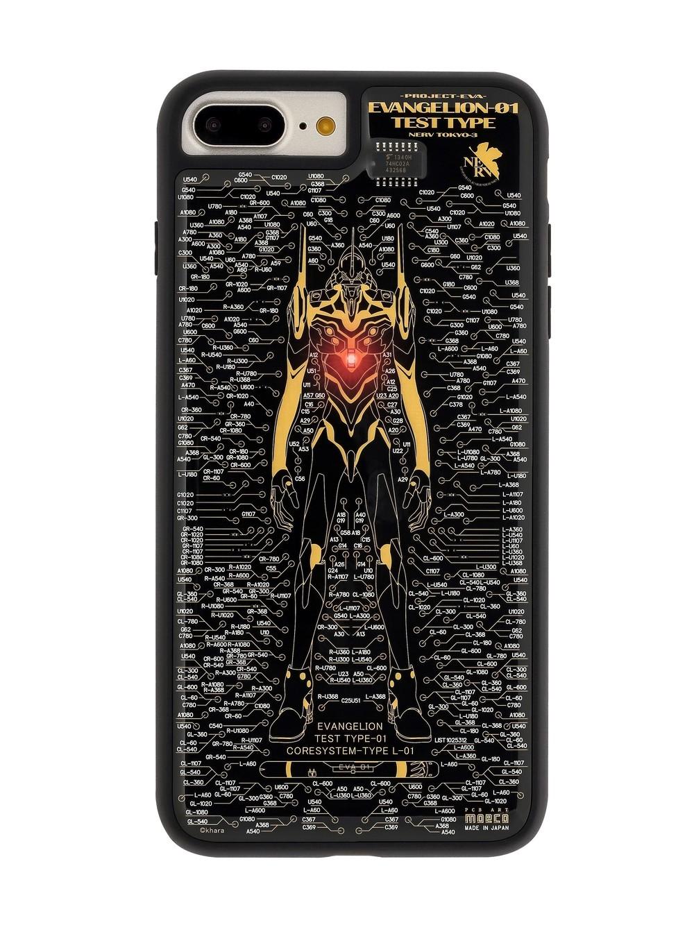 iPhone 7/7 Plusケース「エヴァ初号機」胸部コアが電波で光る
