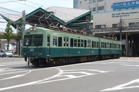 石山坂本線を走る600形