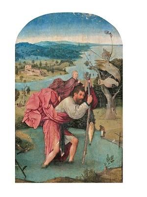 ヒエロニムス・ボス「聖クリストフォロス」1500年頃©Museum BVB, Rotterdam, the Netherlands (Koenigs Collection)