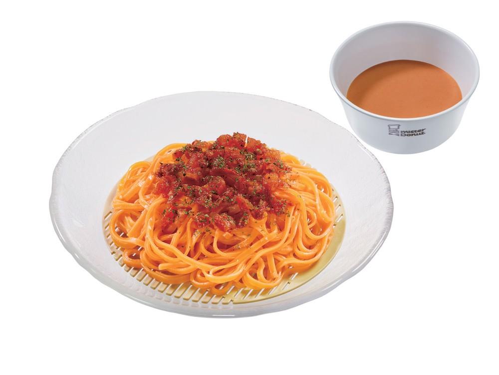 「トマト豆乳ベジ涼風麺」