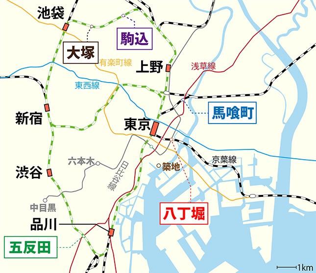 【穴場は○○線!?】23区内で「駅近」マンションが最も多いJRの駅が判明!