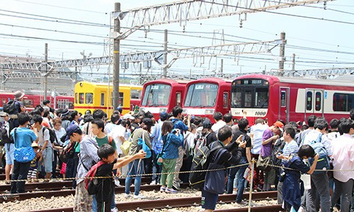 過去の「京急ファミリー鉄道フェスタ」の様子
