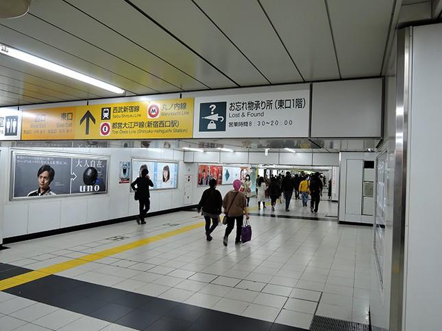 JR新宿駅の構内(編集部撮影)
