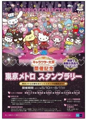 東京メトロ×サンリオ 「2017年サンリオキャラクター大賞」開催記念のスタンプラリー