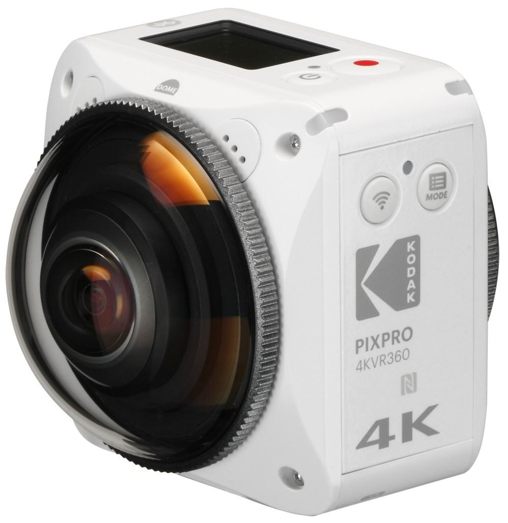 死角のない4K全天球VR映像を撮影できるアクションカメラ 「KODAK」から