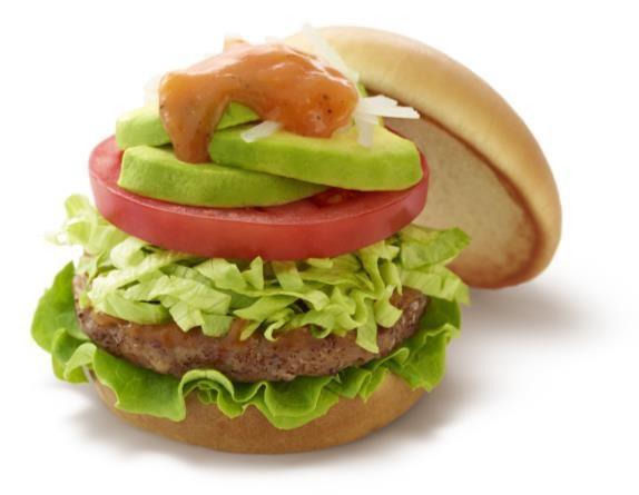 夏モスはアボカドたっぷりバーガー フレッシュ野菜が超ボリューミー!
