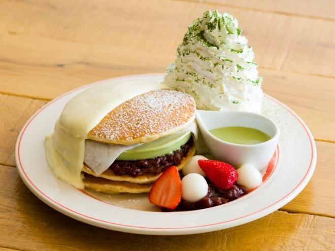 京都四条店限定! EGGS 'N THINGSの「宇治抹茶アイスパンケーキ」