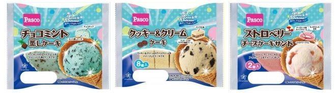 人気アイスがモチーフ 「チョコミント蒸しケーキ」など3種