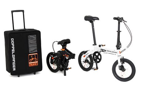 コンパクト収納の折りたたみ自転車「ハコベロ」 スーツケースが駐輪場代わり