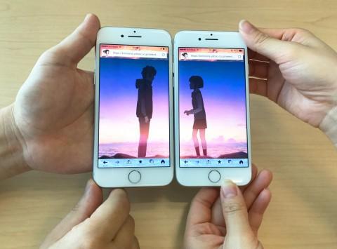 2人のスマホで「カタワレ時」を再現 「君の名は。」のペア動画、Yahoo!アプリで
