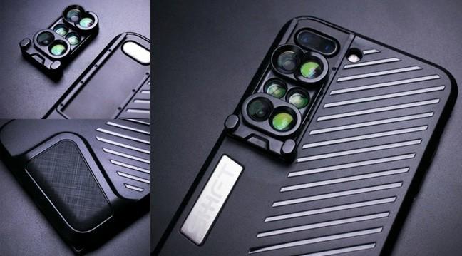 広角・望遠・マクロ・魚眼レンズで撮影 iPhone 7 Plus向けレンズ付きケース