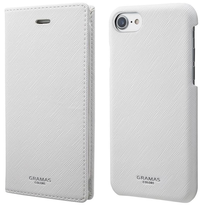 汚れにくく手入れしやすいサフィアーノ調PUレザーのiPhoneケース