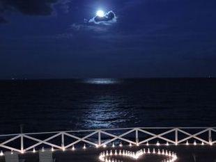 満月の夜に浮かび上がるムーンロード