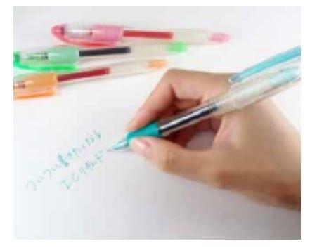 万年筆みたいな書き味がクセになる「ICリキッドボールペン」発売
