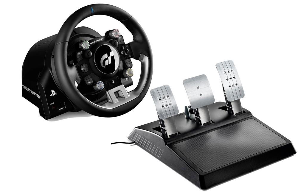 PS4「グランツーリスモSPORT」専用レーシングコントローラー フィードバックや振動、走行中の調整も