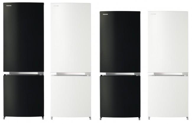 東芝から約8年ぶりに新登場、単身世帯向け2ドア冷凍冷蔵庫 スタイリッシュなたたずまい