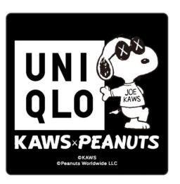 第2弾は真っ黒スヌーピー! ユニクロ「KAWS×PEANUTS」発売