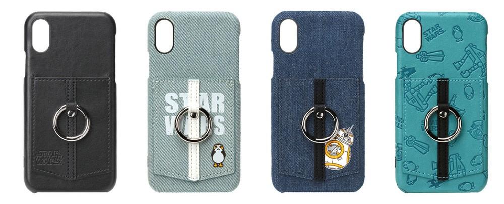 「スター・ウォーズ」デザイン iPhone X向けポケット&リング付きケース