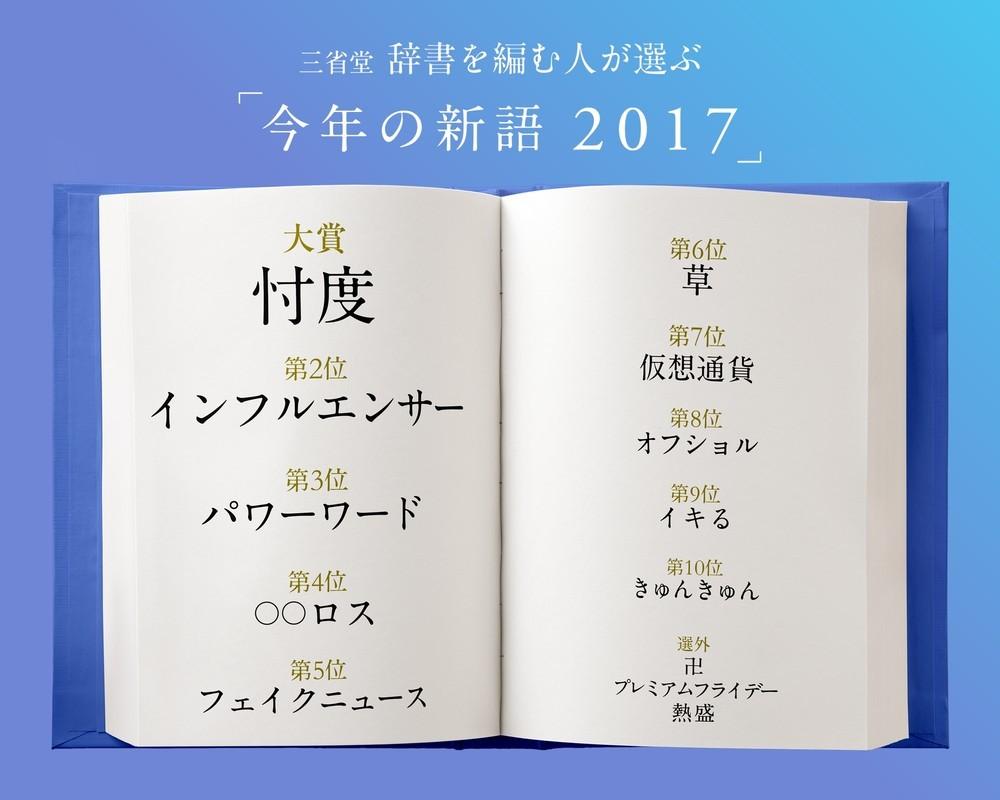 こちらの大賞も「忖度」 三省堂「今年の新語」