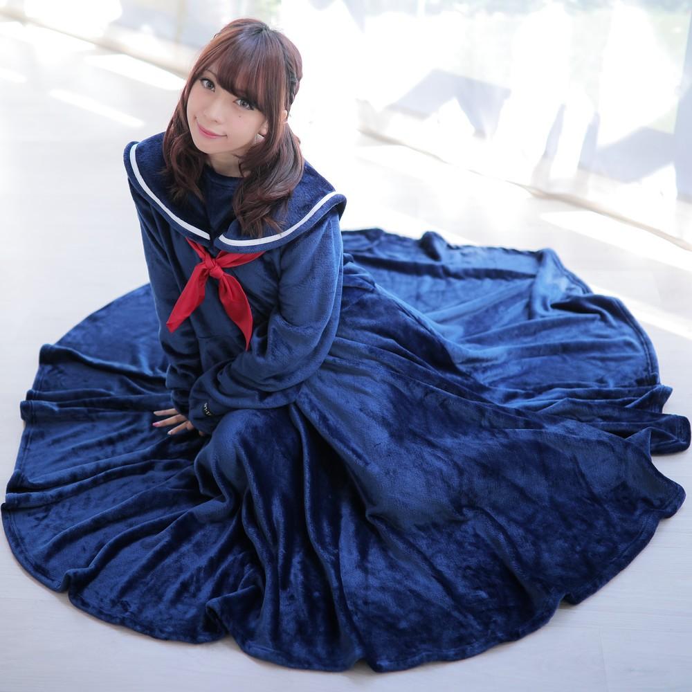 第2の「セーラー服」デビュー!? 「着る毛布セーラー服2018」が爆誕