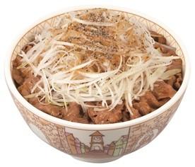 復活!すき家の「白髪ねぎ牛丼」 しゃきしゃきの白髪ねぎは最高