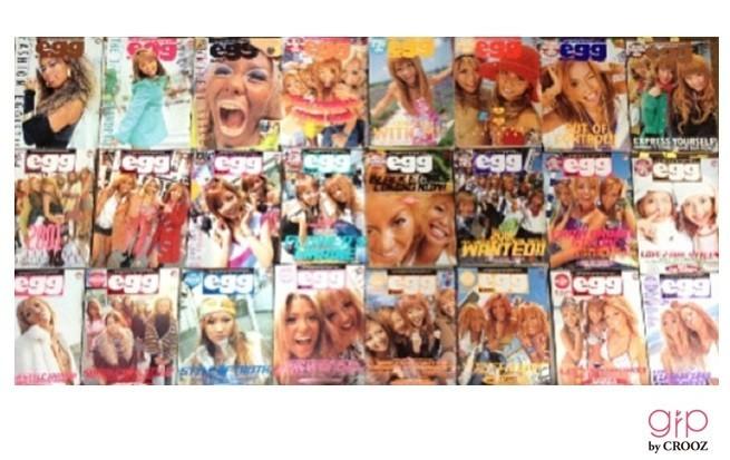 高校時代のバイブルだった雑誌「egg」。今でも大切にとってあります。(安部舞紗)