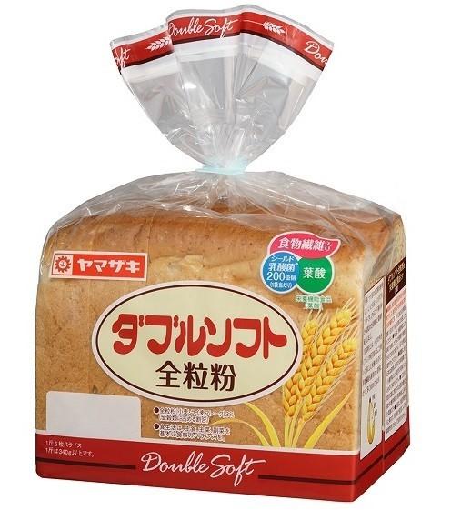 食物繊維・シールド乳酸菌・葉酸配合の「ダブルソフト全粒粉」 しっとり感そのまま