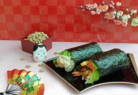 シャリを野菜に変更 くら寿司、糖質73%オフの恵方巻き