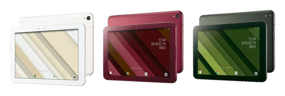 auのタブレット「Qua tab QZ」余裕のバッテリー内蔵8.0型 バスルームでも使える10.1型の2モデル