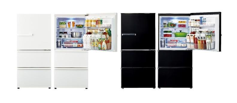 ワイドタイプのオーブンレンジも置ける3ドア冷凍冷蔵庫 高さ130cm!