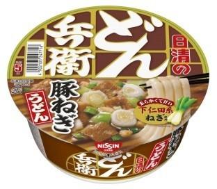 濃い味のつゆ甘い下仁田系ねぎのハーモニー 「日清のどん兵衛 豚ねぎうどん」