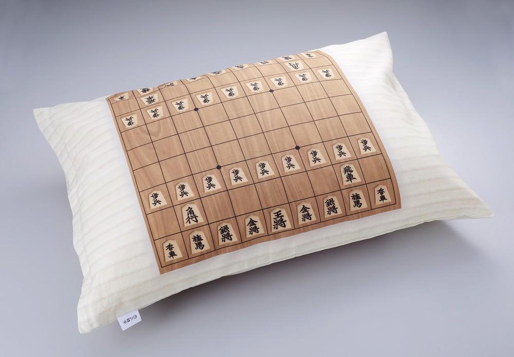 夢の中でも次の一手を! 将棋盤の枕カバー爆誕