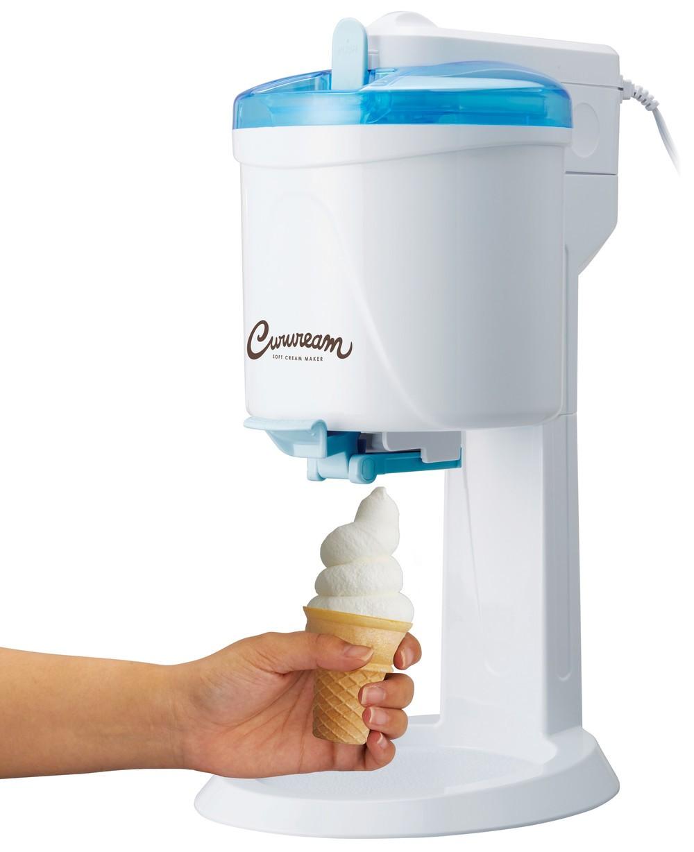 自宅で簡単にソフトクリーム作り 材料は市販のアイスクリームでOK
