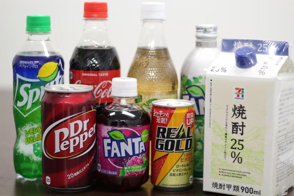 人気炭酸飲料7種